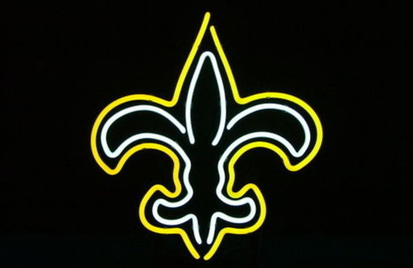 Business Custom NEON SIGN board For Football LED New Orleans Saints REAL GLASS Tube BEER BAR PUB Club Shop Light Signs 15*14""