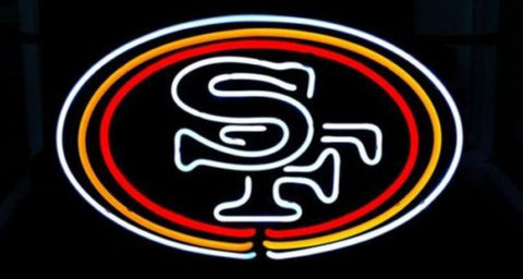 Business Custom NEON SIGN board For Football LED San Francisco 49ers REAL GLASS Tube BEER BAR PUB Club Shop Light Signs 15*12""