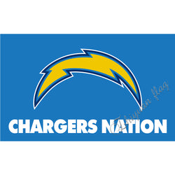 Chargers NATION flag 3x5ft Los angeles Chargers flag with CHARGERS NATION designs Metal Grommets San Diego Chargers Flag