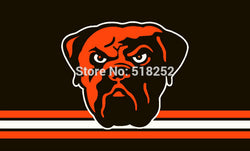 Cleveland Brown Three Lines Flag 3x5 FT 150X90CM NFL Banner 100D Polyester Custom flag603, free shipping