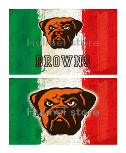 Cleveland Brown team FLAG green white red strip American flag 100D Polyester custom Cleveland Browns flag banner