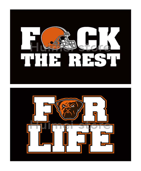 Cleveland Browns Flag 3X5FT 90 x 150 cm 100% Polyester life and the rest flag Cleveland Brown