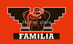 Cleveland Browns flag 90x150cm 100D polyester Familia style custom Cleveland Brown banner