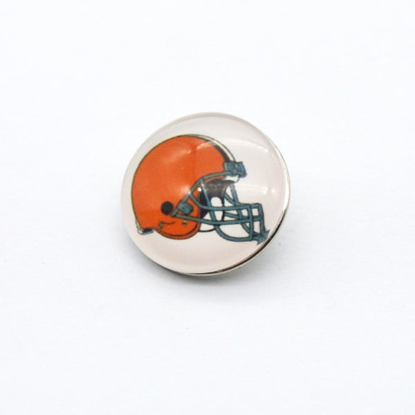 Cleveland brown  team 18mm metal snap button charms super bowl sports fit for women button snaps bracelet NE0441