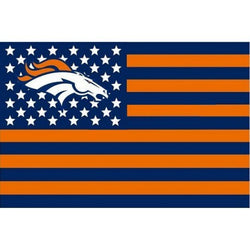Denver Broncos flag USA stripe banner  star  Premium tim sepak bola bendera banners 3X5FT custom flags