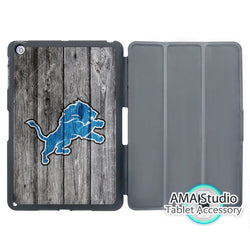 Detroit Lions American Football Smart Cover Case For Apple iPad Mini 1 2 3 4 Air Pro 9.7 Stand Folio Wake Up Sleep Function