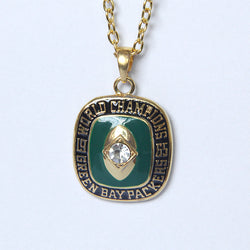 Drop Shipping 1965 Green Bay Packers Championship Pendants Necklace For Men and Women Necklaces Statement Jewelry