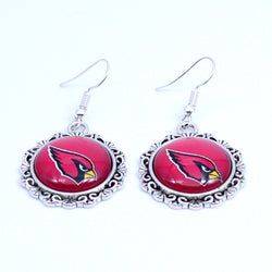 Earrings Arizona Cardinals Charms Dangle Earrings Sport Earrings Football Jewelry for Women Birthday Party Gift 5 pairs