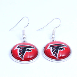 Earrings Atlanta Falcons Charms Dangle Earrings Sport Earrings Football Jewelry for Women Birthday Party Gift 5 pairs