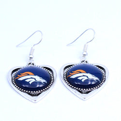 Earrings Denver Broncos Charms Dangle Earrings Sport Earrings Football Jewelry for Women Birthday Party Gift 5 pairs