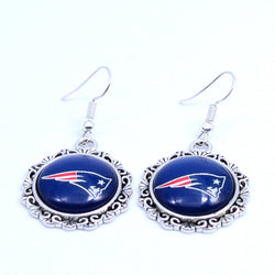 Earrings New England Patriots Charms Dangle Earrings Sport Earrings Football Jewelry for Women Birthday Party Gift 5 pairs