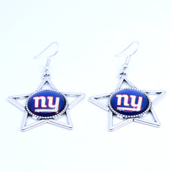 Earrings New York Giants Charms Dangle Earrings Sport Earrings Football Jewelry for Women Birthday Party Gift 5 pairs