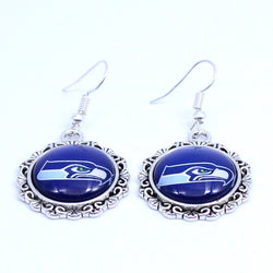 Earrings Seattle Seahawks Charms Dangle Earrings Sport Earrings Football Jewelry for Women Birthday Party Gift 5 pairs