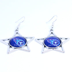 Earrings Tennessee Titans Charms Dangle Earrings Sport Earrings Football Jewelry for Women Birthday Party Gift 5 pairs