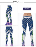 Echoine Seattle Seahawks Sports Yoga Pants Women Elastic High Waist Slim Running Jogging Tights Workout Fitness Leggings Trouser
