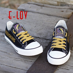 Factory Direct Sale NFL Washington Redskins Paint Canvas Shoes Draw Leisure Shoes Men Boys Print Logo Shoes Best Gift for Fans