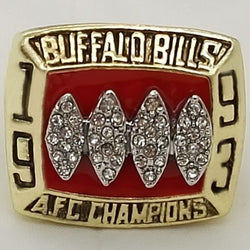 Factory Direct Sale Replica AFC 1993 Buffalo Bills Super Bowl Football Championship Rings Solid  Fans Best Gift