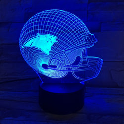 Football Helmet Detroit Lions Night Lights 3D Illusion Lamp Methacrylate plate Desk Lampa Veilleuse Enfant Home Lighting Lampade