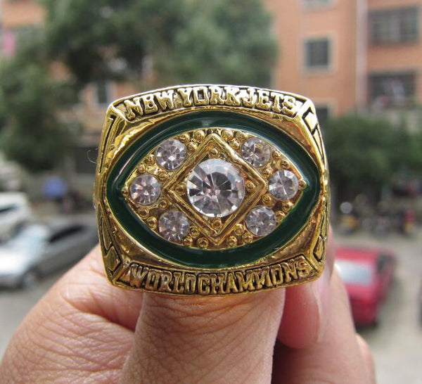 Free Shipping High Quality 1968 New York Jets Super Bowl championship ring size 11 Fan Gift Football ring Wholesale