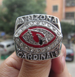 Free Shipping high quality Arizona Cardinals 2008 NFC National Football Championship Ring solid souvenir Sport men fan gift