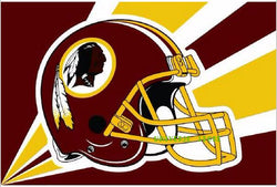 Free shipping  3 x 5ft Washington Redskins Helmet Flag 90x150cm  Banner 100D Polyester NFL flag