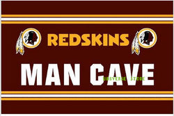 Free shipping  3 x 5ft Washington Redskins man cave flag Banner 90x150cm 100D Polyester Flag metal Grommets
