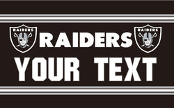 Free shipping 3x5FT NFL flag Oakland Raiders  Your Text Flag Banner Flying Custom flag Super Fan 100D digital printing
