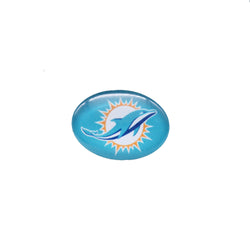 Glass Snap Button 18mmX25mm Miami Dolphin Charms Snap Bracelet for Women Men Football Fans Gift Paty Birthday Fashion 2017