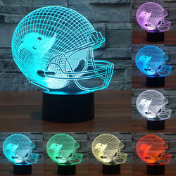 Glow Night Lights NFL Team Tampa Bay Buccaneers Table Lamp USB Touch Button Lampe 3D desk table 7 Color changing lamp IY803676