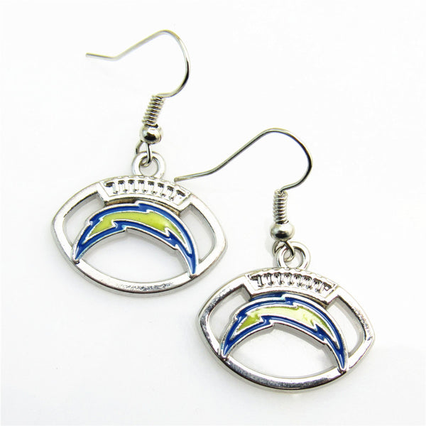 High quality 5 pair/lot America Footbal Earring Jewelry Los Angeles Chargers Team Sports Earring for women earrings Jewelry