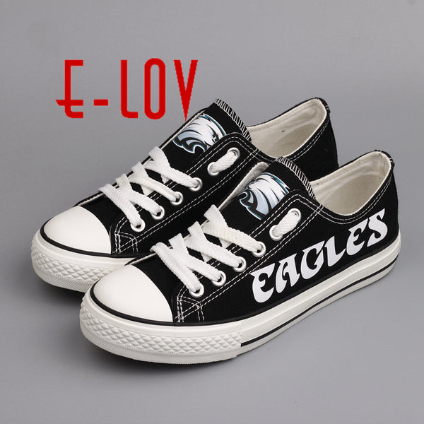 34cae7f717c Hot Sale 2017 New Arrived Philadelphia Eagles Canvas Shoe Fashion Fans –  American Football Now