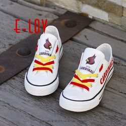Hot Style NFL Arizona Cardinals New Canvas Shoes Men Boys Print Casual Shoes  Arizona Cardinals Fans Customized Shoes Big Size