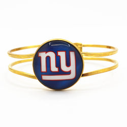 Hot selling silver alloy bracelet 6pcs/lot New York Giants football sports team charms for man woman fashion bracelets jewelry