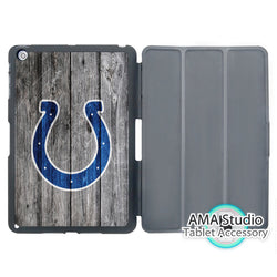 Indianapolis Colts National Football League Cover Case For iPad Mini 1 2 3 4 Air Pro 9.7 Stand Folio Wake Up Sleep Function