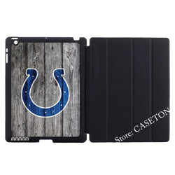 Indianapolis Colts National Football League Stand Folio Cover Case For Apple iPad Mini 1 2 3 4 Air Pro 9.7Wake Sleep