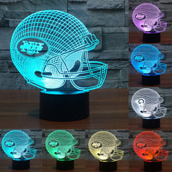 LED Tennessee Titans/New York Jets/Washington Redskins Team Neon Light Signs 3D Football Helmet Visual Lamp as gift  IY803664