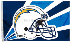 LOS ANGELES CHARGERS  helmet new  flag150X90CM Banner 100D Polyester flag brass grommets 001, free shipping