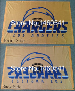 Los Angeles Chargers Flag 3ft x 5ft Polyester NFL Banner Flying Size No.4 144* 96cm QingQing Flag