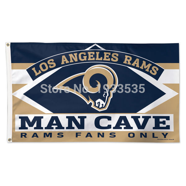 Los Angeles Rams WinCraft 3 x 5FT Deluxe Man Cave banner Flag