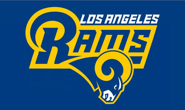 Los Angeles Rams fans flags 90x150cm polyester digital print banner with 2 Metal Grommets 3x5ft