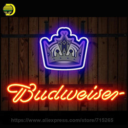 NEON SIGN For Budweiser Los Angeles Kings New England Patriots Tennessee Titans Detroit Lions Dallas Cowboys Philadelphia Clevel
