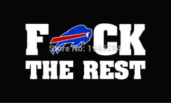 NFL Buffalo Bills F uck The Rest Flag Banner Size 3x5FT 90x150CM New Polyester 12103, free shipping
