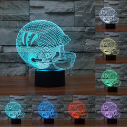NFL Cincinnati Bengals 3D Night Light 7 color changing USB table desk Lamp touch switch Decor Gift Creative Lighting IY803660