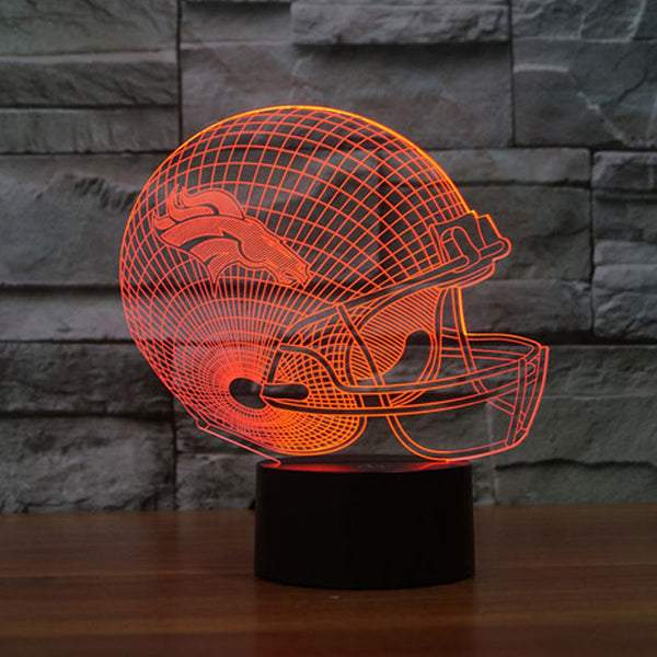 NFL Denver Broncos 3D Night Light 7 Colors Change LED Table Lamp Xmas Gift Creative Night Lamp for foodball funs droo shipping