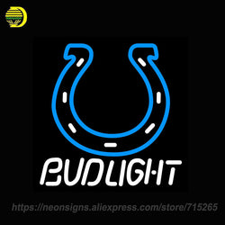 Neon Sign for Bud Light Indianapolis Colts Handcrafted Neon Sign Lights Store Display Neon Bulbs Sign Signboards BRAND Art Lamps