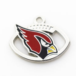 New 20pcs/lot Arizona Cardinals Charm Team Hanging Dangle Charms Sports Floating Charms DIY Bracele&bangles Jewelry Accessory