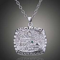 New Arrival Women Pendant Necklaces 2013 The Seattle Seahawks Football Championship Crystal Necklace Pendant For Men And Women