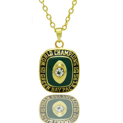 New Sport Jewelry 1965 Green Bay Packers Championship Pendants Necklace For Men and Women Necklaces