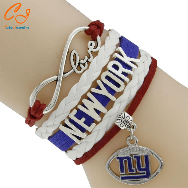 New York Giants Charm Bracelet NFL Jewelry Drop Shipping