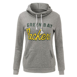New autumn winter Super Bowl team Green Bay Packers women ladies hoodie sweatshirt long sleeve fleece pull hoodies